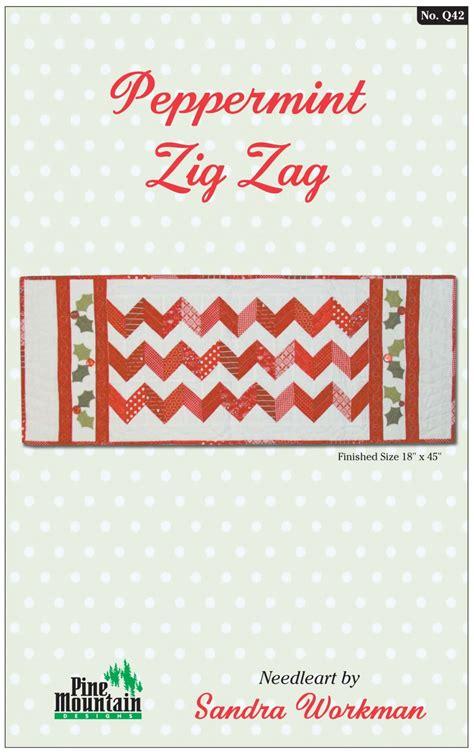 zig zag pattern table l q42 peppermint zig zag table runner 42