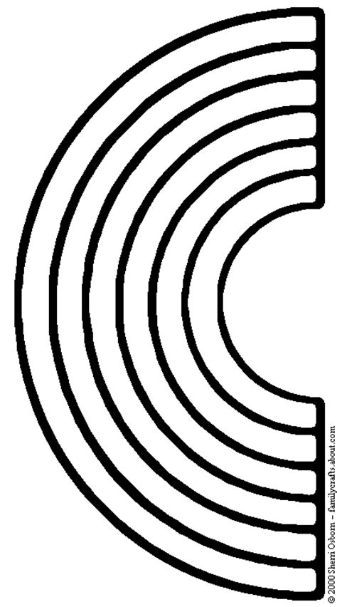 Rainbow Clipart Black And White - 59 cliparts Rainbow Clipart Outline