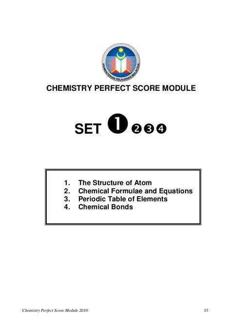 chemistry score module 2010