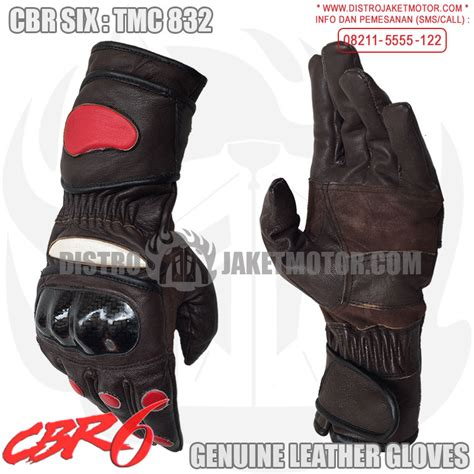 Sarung Tangan Eceran sarung tangan kulit cbr six distrojaketmotor