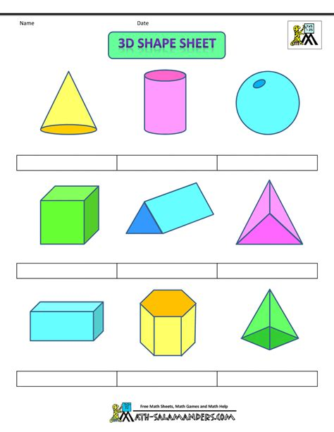 printable 3 dimensional shapes coloring pages of three dimensional shapes coloring page