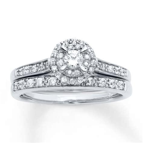 Kay   Diamond Bridal Set 1/2 ct tw Round Cut 14K White Gold