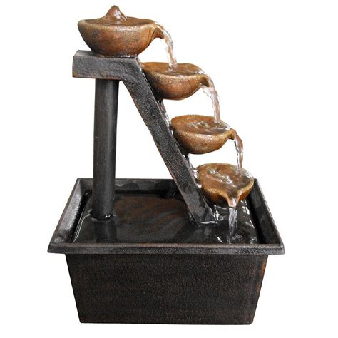 alpine 8 in 4 tier step tabletop fountain wct324 the