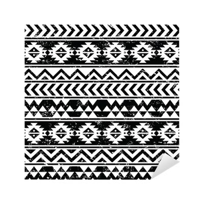 changing pattern of tribal livelihoods aztec tribal seamless grunge white pattern on black