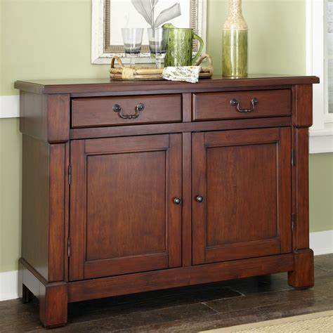 Aspen Buffet In Rustic Cherry Shop Home Styles Aspen Rustic Cherry Sideboard At Lowes