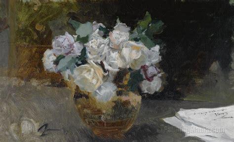 cuadros de rosas blancas bodegon de rosas blancas joaquin sorolla y bastida paintings