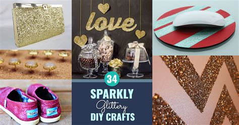 diy projects with photos 34 sparkly glittery diy crafts you ll