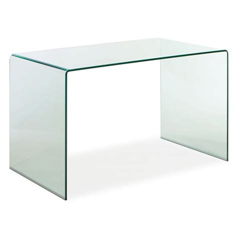 white desk glass top white tempered glass desk bellacor