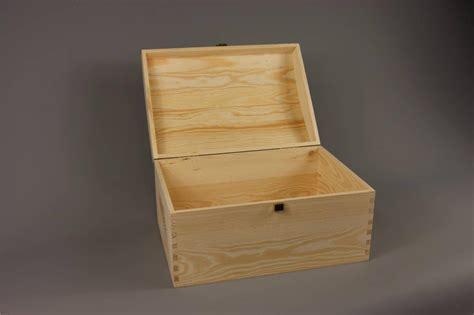 large treasure chest plain wooden box decoupage craft ebay