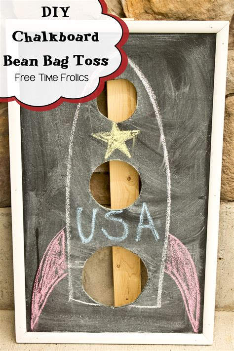 diy bean bag toss chalkboard bean bag toss tutorial diy