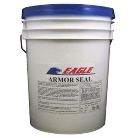 eagle 5 gal armor seal urethane modified acrylic glossy durable water based clear concrete