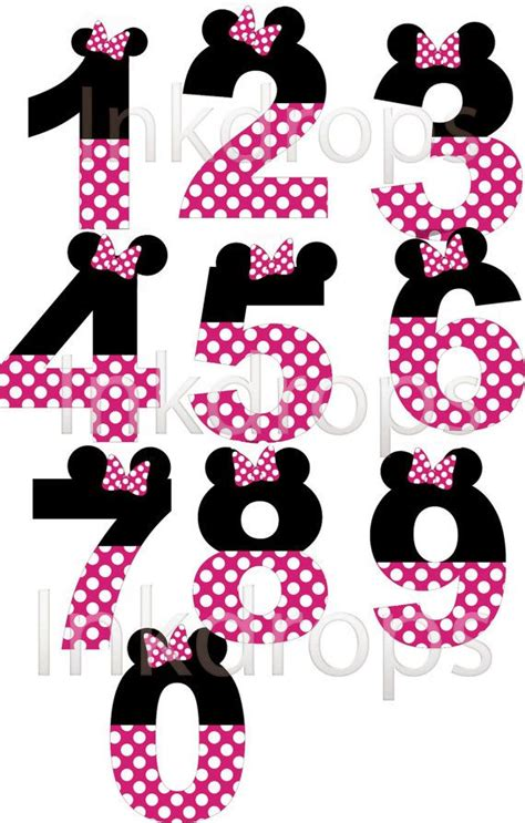 Hp Mini Mickey minnie mouse inspirado en letras y n 250 meros rosa por inkdropsdigital cumple