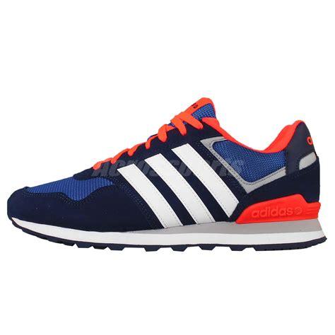 10k running shoes adidas neo label 10k blue orange suede mens running shoes