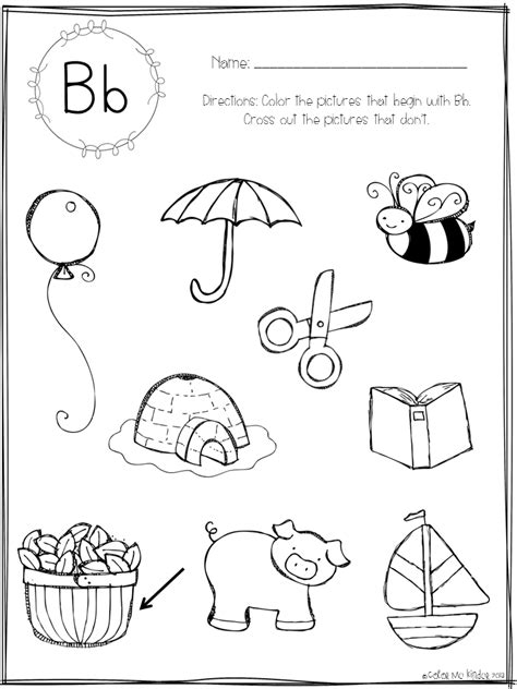 Color Me Kinder Beginning Sounds Printable Pack Giveaway Sound Of Coloring Pages