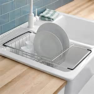 ksp span sink dish rack 21 quot x 11 quot x 5 5 quot chromewire