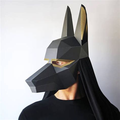 anubis mask template anubis mask pre cut all you need is glue to make this