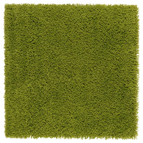 Hampen Rug High Pile Bright Green 80x80 Cm Ikea Green Rug
