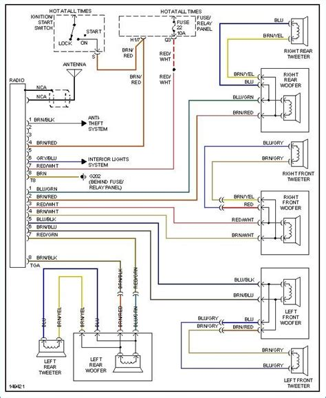 vw radio wire harness wiring diagram