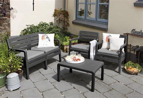 Allibert Patio Furniture by Allibert By Keter Delano 4 Seater Lounge Outdoor Garden