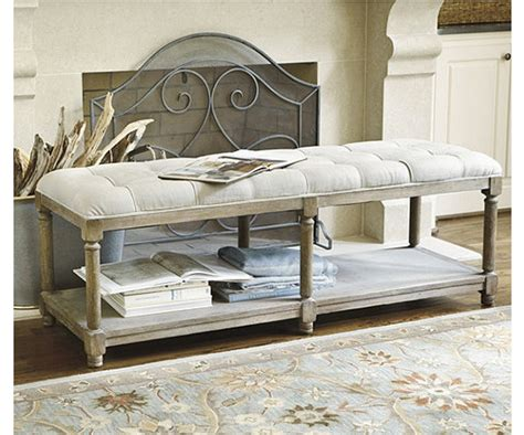 ballard design bench ballard designs saverne tufted bench copycatchic