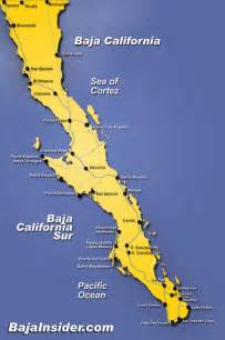 baja california on map california map