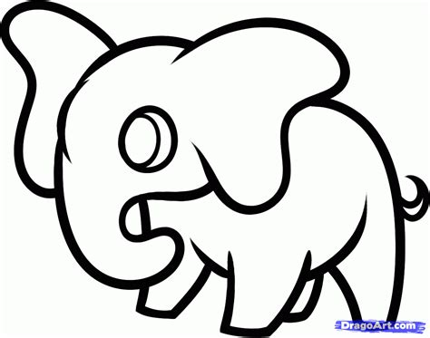 Easy To Draw Animals by How To Draw A Elephant For Step By Step Animals For
