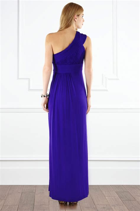 Dress Elita lyst coast elita one shoulder maxi dress in purple