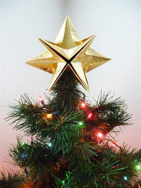 Origami Tree Topper - papyrus origami tree topper by goraygami