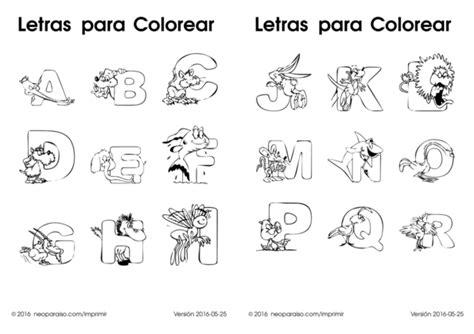 imagenes para colorear letras letras para colorear