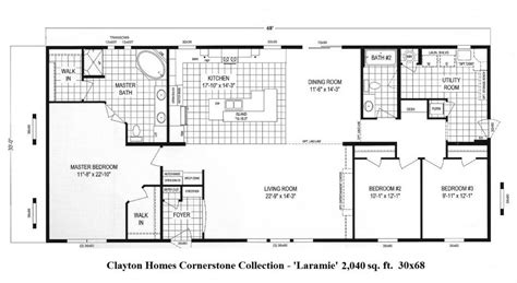 crown hall floor plan 34 75160 415 30x68 crest laramie