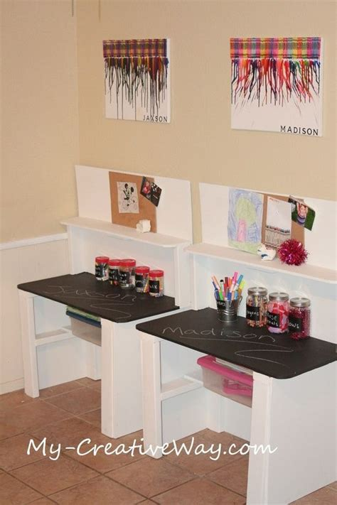 homework desk ideas 1000 ideas about kids art station on pinterest art