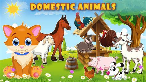 learning domestic animals   sounds  kids english vocabulary youtube