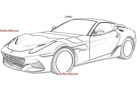 ferrari front drawing ferrari sp arya leaked patent renderings show a custom