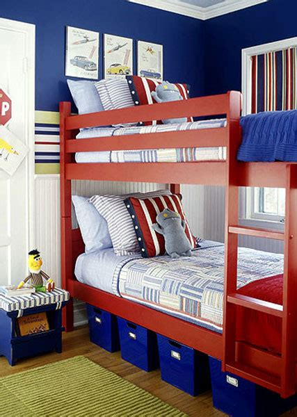 nice Boy And Girl Shared Room Ideas Bunk Bed #5: RedWhiteBlueCoolRoomsforBoys.jpg