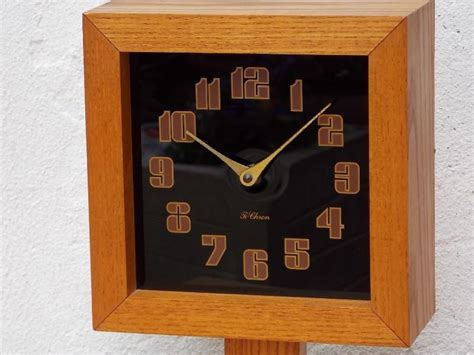 superior Mid Century Modern Alarm Clock #4: Ti-Chron_Square_Oak_Black_Clock_on_Pedestal_7.JPG?v=1479051763