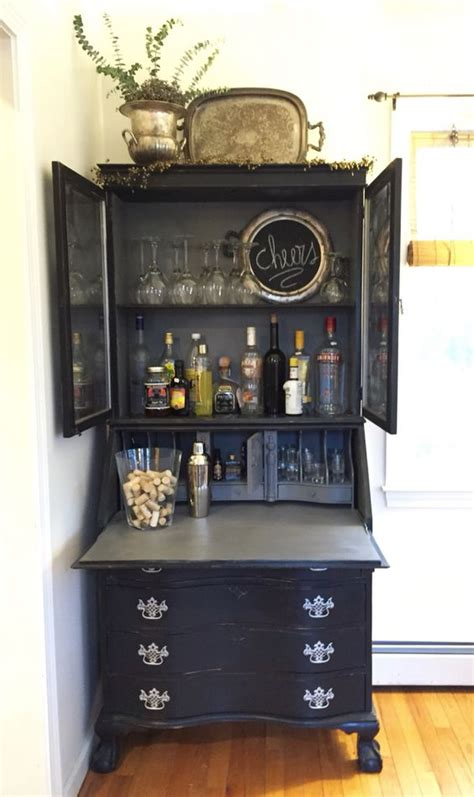 vintage painted black shabby chic and