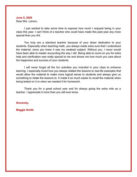 appreciation letter for instructor appreciation letter 5 plus printable sle letters