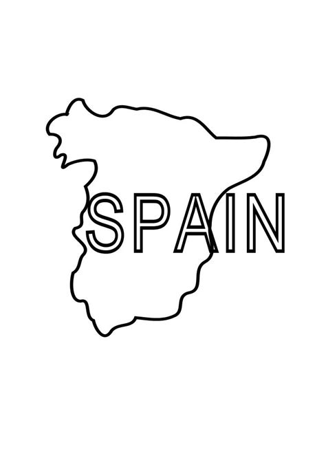 Spain Coloring Page Child Coloring Spain Coloring Page
