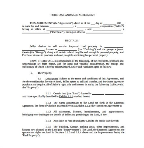 sle purchase and sale agreement 12 free documents in