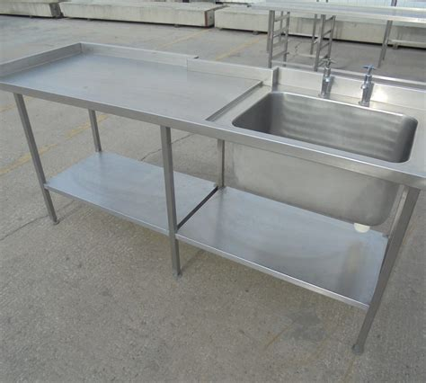 used stainless steel tables used stainless steel single bowl sink table 200cmw x 65cmd x 91cmh h2 catering equipment