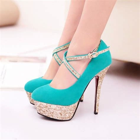 turquoise high heels shoes turquoise strappy high heel fashion