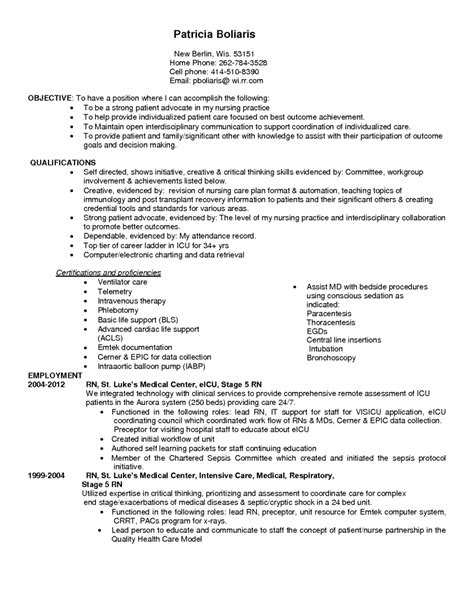 pediatric registered resume exles icuple