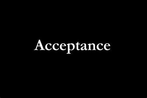 Of Acceptance acceptance the contrarian