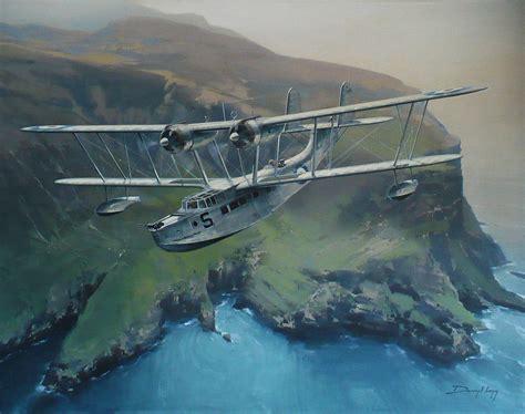 flying boat airplane supermarine stranraer by darryl legg flying boats
