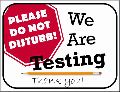 sign template for testing shhhh we re testing the middle school counselor