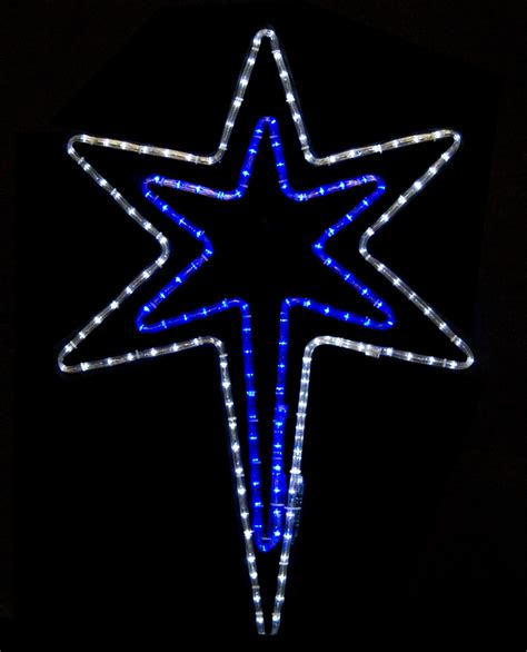 Snowflakes Stars 32 Quot Bethlehem Star With A Blue Center Lighted Of Bethlehem Outdoor