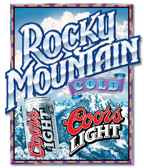 how many coors light to get coors light poster lettering design and illustration for