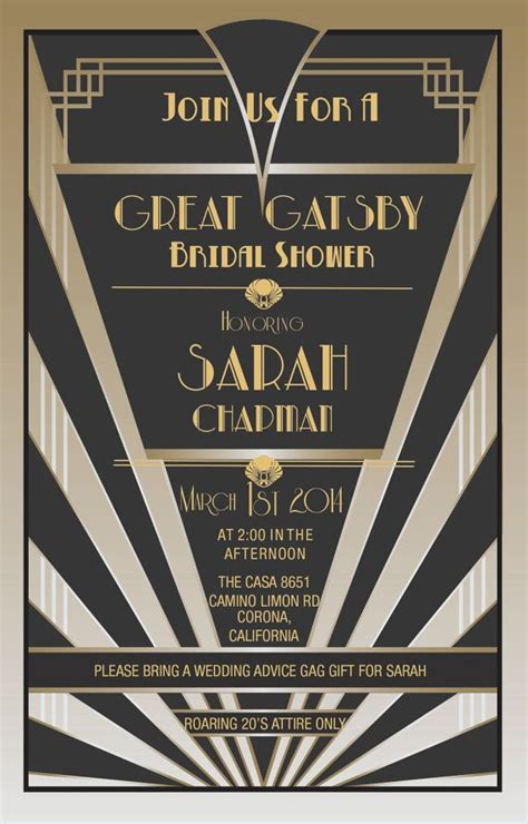 great gatsby invitations gatsby style roaring 20s
