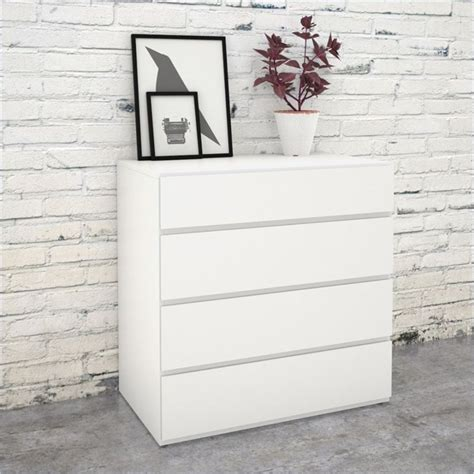 White Melamine Chest Of Drawers by Modular Bedroom Furniture Nexera Blvd 4 Drawer Chest In