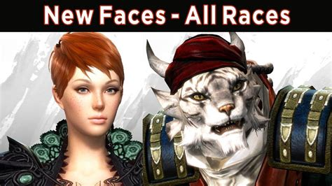 New Face Options All Races Male Female Guild Wars 2 | new face options all races male female guild wars 2